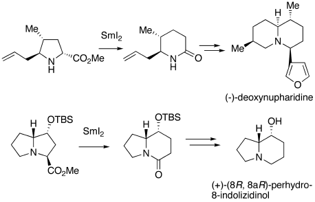 samarium diiodide organic systhesis Sadasivam, d v, choquette, k a, flowers ii, r a preparation and use of samarium diiodide (smi 2) in organic synthesis: the mechanistic role of hmpa and ni(ii) salts in the samarium barbier reaction.